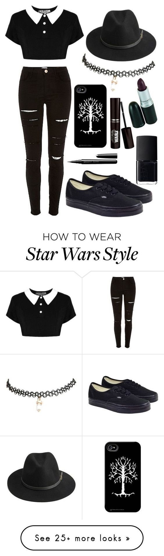"""Untitled #96"" by martinabranco on Polyvore featuring Vans, BeckSöndergaard, Wet Seal, Marc Jacobs and NARS Cosmetics:"