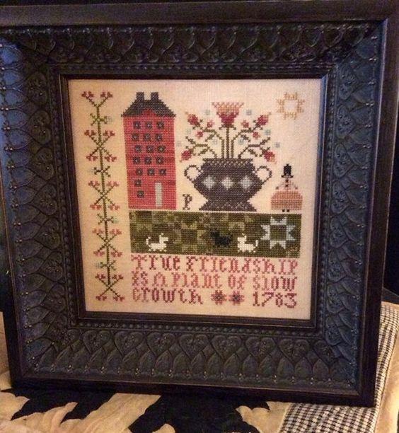 True Friendship (Pat's Sampler) cross stitch chart Plum Street Samplers - Other