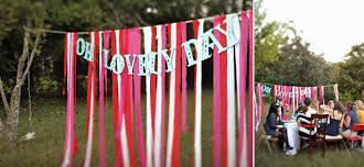 """Very nice and appealing whimsical wedding decoration using crepe paper and """"oh lovely day"""" text"""