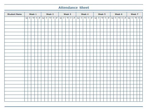 This is a photo of Gratifying Printable Attendance Chart