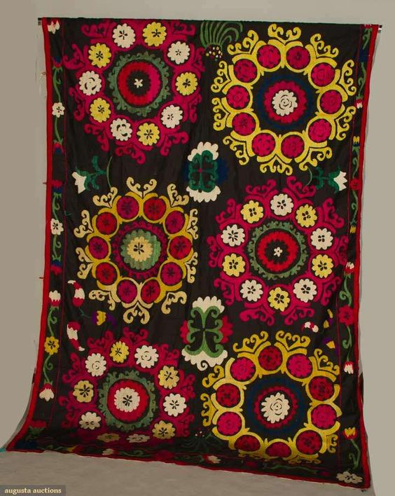 Suzani Tent Hanging, Uzbekistan, Mid 20th C, Augusta Auctions, April 17, 2013 - NYC, Lot 388