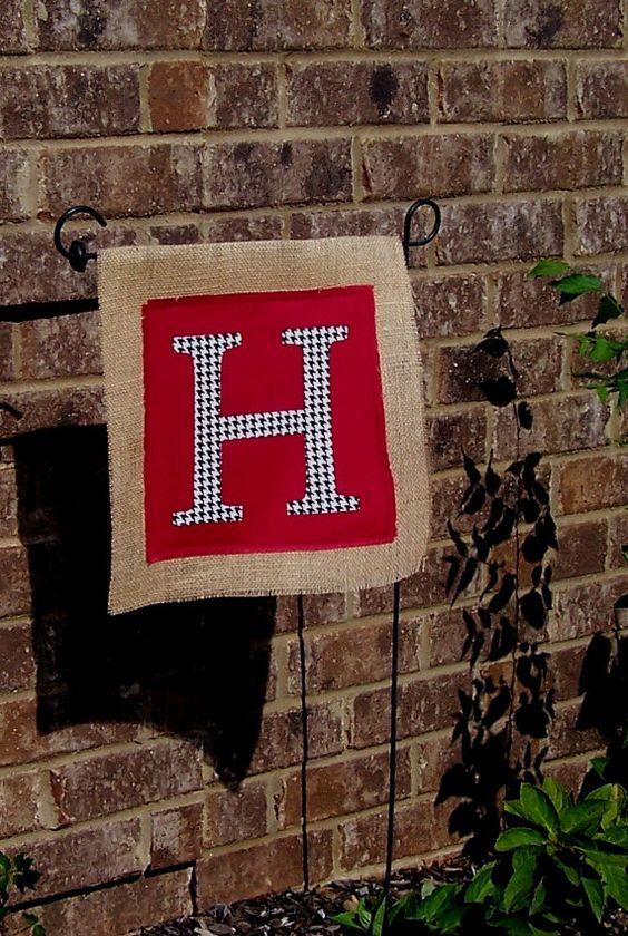Gardens Design your own and Burlap garden flags on Pinterest