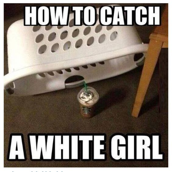 White girl problem #starbucks :) I'm caught!