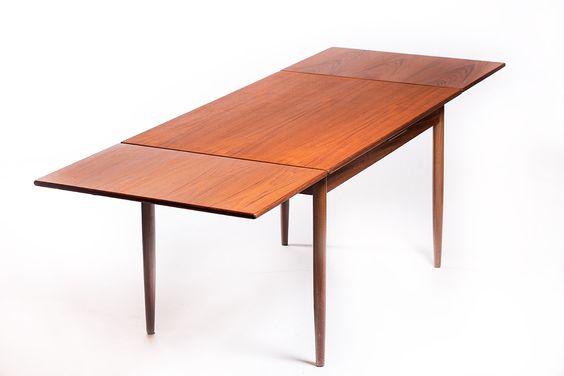 Vintage teak uitschuifbare eettafel – Vintage Furniture Base