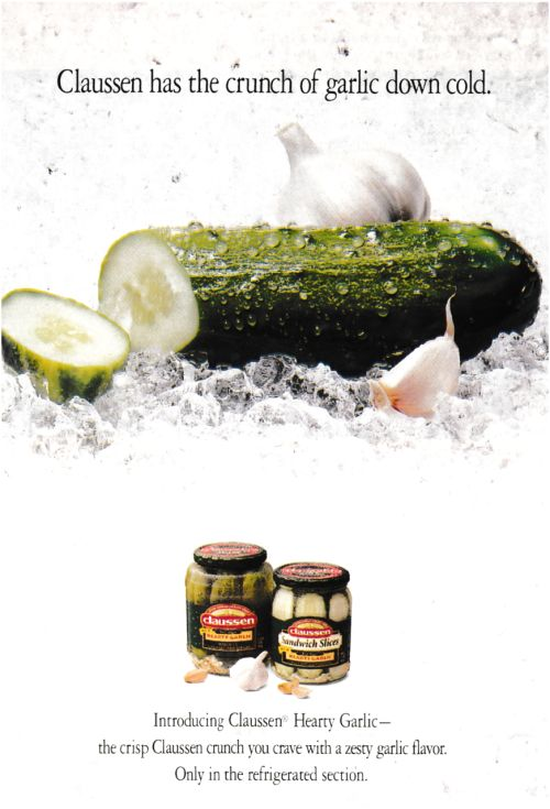 1996 Advertisement for Claussen Pickles