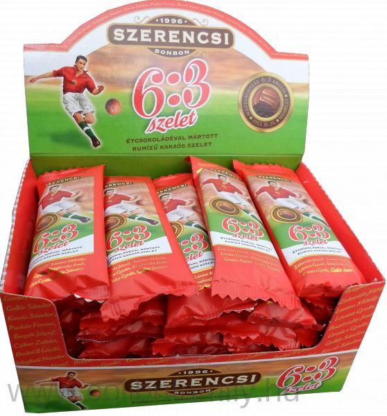 A Sport szelet bár régi magyar márka, már hosszú ideje nem Magyarországon gyártják. Helyette ajánljuk figyelmetekbe a magyar tulajdonú Szerencsi Bonbon Kft. új termékét, a 6:3 SZELETET! Ez valóban hazai feldolgozású termék!