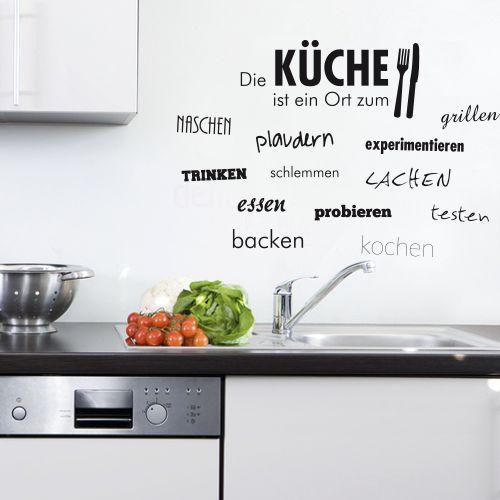 Wandtattoo  -  Die Küche ist ein Ort zum