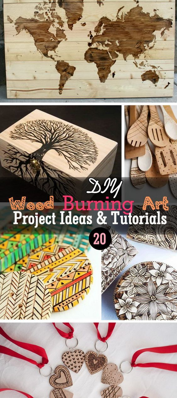 Lots of DIY Wood Burning Art Project Ideas and Tutorials!