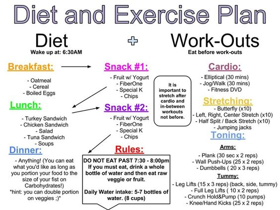Diet and Exercise Plan | lose weight quickly | Pinterest ...
