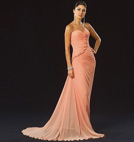 SEXY EVENING GOWN Patterns Fit &amp- Flare Wedding Dress Pattern ...