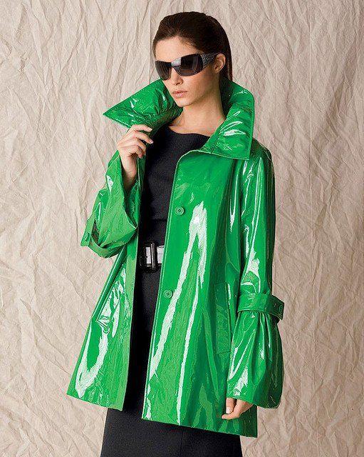 Green PVC Rain Jacket | green raincoat | Pinterest | Rain Green