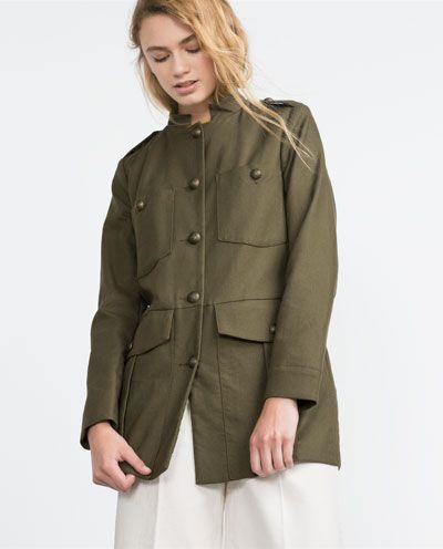 军装款夹克