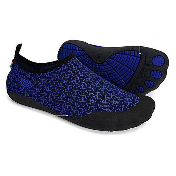Rlok Men Women Barefoot Water Shoes 3.0 (11.5-12 US Women / 9.5-10 US Men, LinkNavy)
