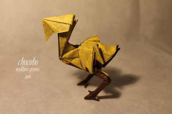 CHOCOBO (Final Fantasy) by Mathieu Gueros Origami