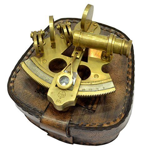 Brass Nautical Antique Sextant Replica Celestial Navigation Marine Navigation for Sale Navigation Brass Sextant - With Leather Case, http://www.amazon.com/dp/B013IOP7DY/ref=cm_sw_r_pi_awdm_cMyYwb0JC3RHZ: