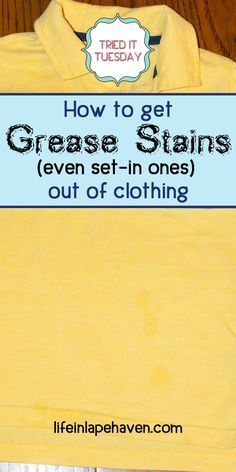 grease stains stains and how to get on pinterest. Black Bedroom Furniture Sets. Home Design Ideas