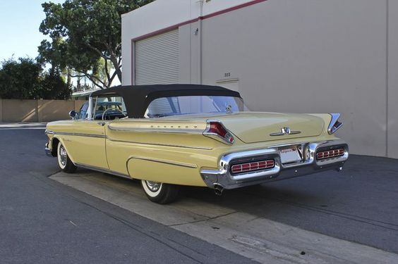 6f7f6b692af1c4a8877d5c6a4df3b84d mercury cars lincoln mercury 1957 mercury montclair convert, yellow with black convertible top  at nearapp.co