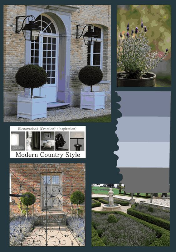 Modern Country Garden Combos: Lavender And Topiary over on Modern Country Style blog!