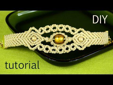 Wavy Chevron Bracelet with Beads - Tutorial - YouTube