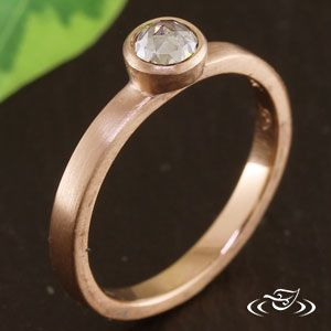 RUSTIC STACK-ABLE ROSE CUT DIAMOND RING, would want the band hammered or have mountains carved in. With champagne sapphire