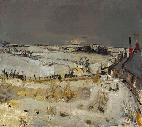 Joan Eardley (British, 1921-1963), Snow. c. 1958. Oil on board, 101.5 x 113.5 cm. Scottish National Gallery of Modern Art, Edinburgh.