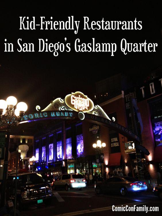 San Diego Gaslamp District Kid Friendly Restaurants