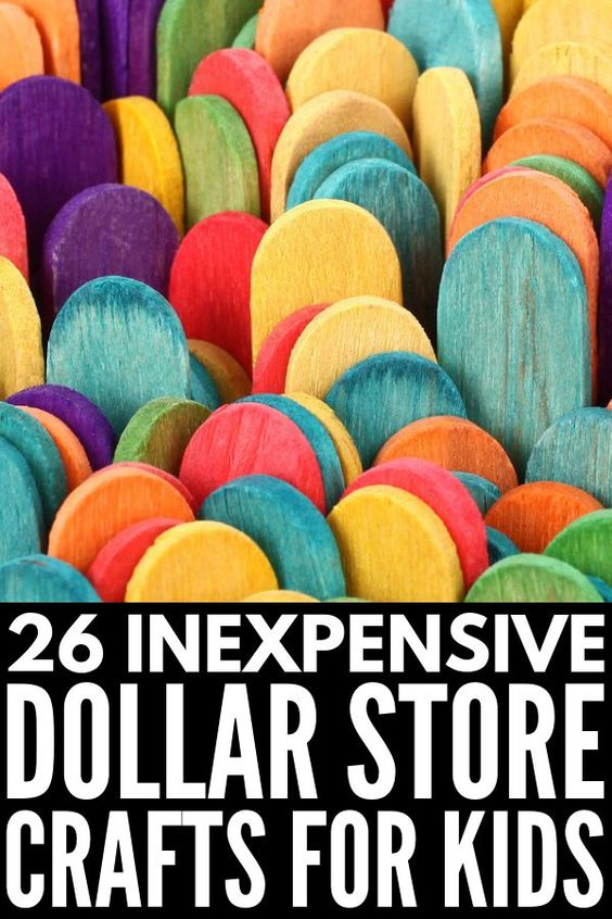 26 Dollar Store Activities for Kids | Looking for fun dollar store crafts to do with your kids/students at home and/or in the classroom? We're sharing our favorite DIY crafts using inexpensive dollar store supplies, like pool noodles, buttons, pom poms, popsicle sticks, pony beads & drinking straws. These easy DIY projects are perfect for birthday parties, and double as fabulous fine motor activities! #dollarstorecrafts #kidscrafts #easycrafts
