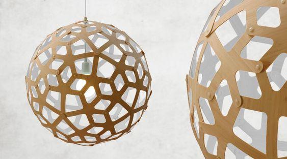 Design-Wohnzimmerleuchten- Kugelleuchte CORAL von David Trubridge