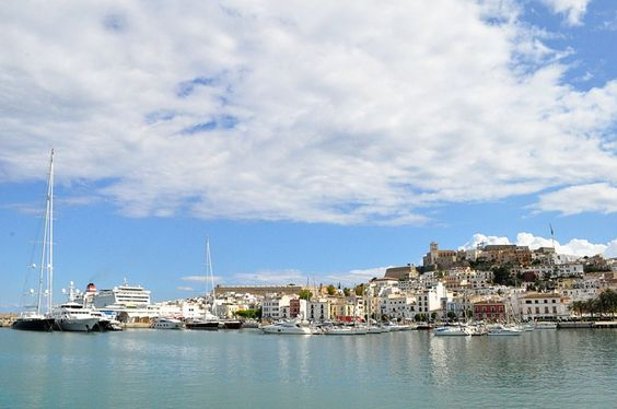 Ibiza Town, Ibiza, Spain (Balearic Islands). I took this from a ferry on the way to Formentera. (Domestiphobia.net)