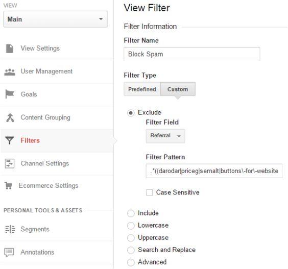 Google Analytics Spam Referral Filter