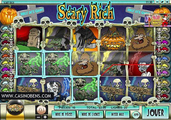 Jouer avec cette incroyable machine à sous 20 lignes Scary Rich et préparez-vous à frissonner avec les morts vivants !  http://www.casinobens.com/machines-a-sous-20-lignes-scary-rich.php