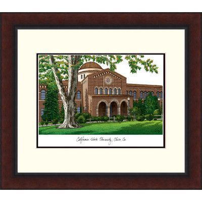 Campus Images NCAA California State University, Chico Legacy Alumnus Lithograph Framed Photographic Print