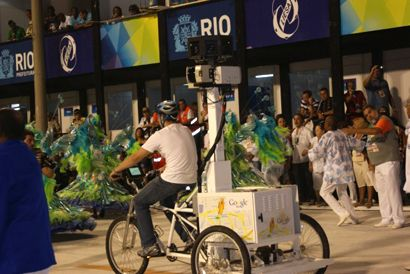 Google Trike passou pelo Sambodromo.