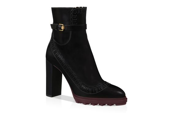 Leather Ankle Boots XXW0XN0O380AKTB999, Boots and Desert Boots, Shoes, Fall-Winter, Shop Woman - Tod's