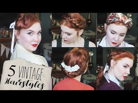 5 Quick Easy Vintage Hairstyles For Natural Straight Hair Vintage Hairstyles Tutorial Easy Vintage Hairstyles Vintage Hairstyles