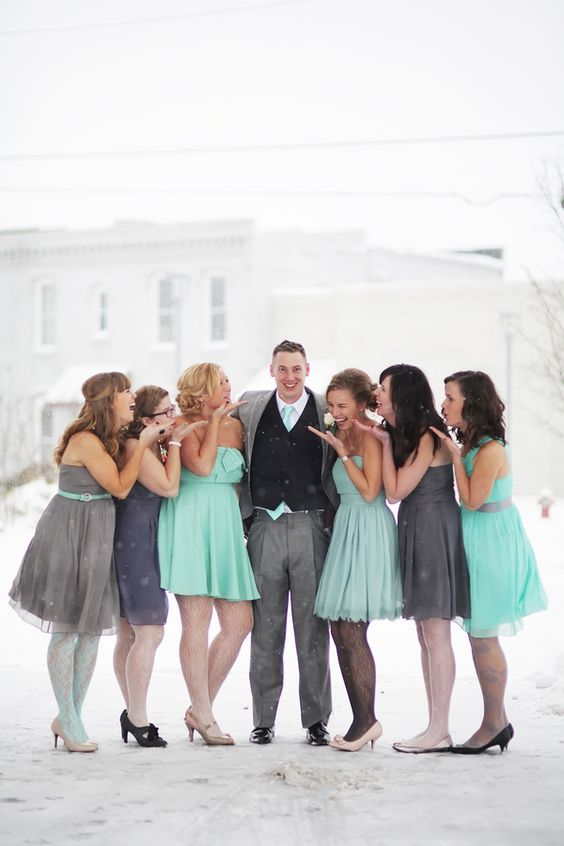 Mint, Pink & Grey Winter Wedding| Photo by: BLUE MARTINI PHOTOGRAPHY