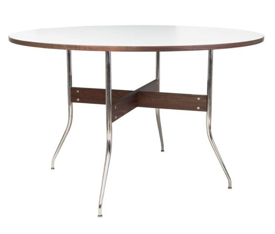 Replica george nelson swag leg round dining table dining for Nelson swag leg table