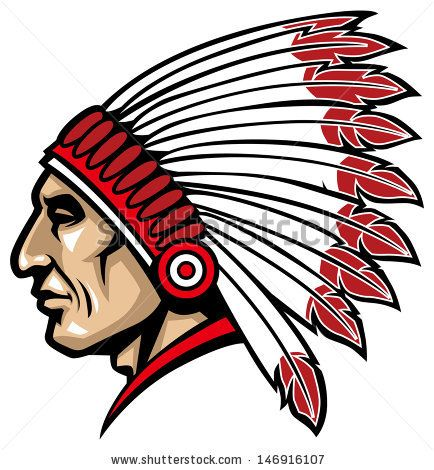 blue indian chief head logo apache stock photos