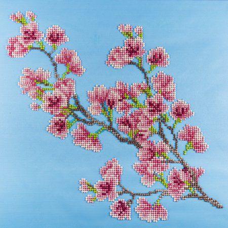 Leisure Arts Inc Diamond Art 12 X 12 Intermediate Cherry Blossom Kit 1 Each Walmart Com Art Kit Diamond Art Leisure Arts