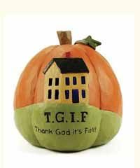 Lighted TGIF Pumpkin