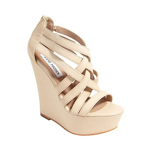 Beige  high wedge sandal