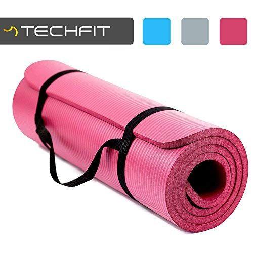 Techfit Tapis De Yoga Et Fitness Extra Epais 15mm 180 X 60 Cm Parfait Pour Des Exercices Au Sol Le Camping Le G Tapis Yoga Accessoires De Yoga Exercices Au Sol