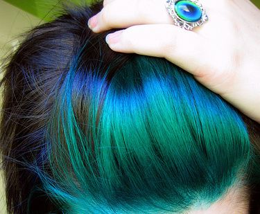 peacock bangs! SO pretty!!