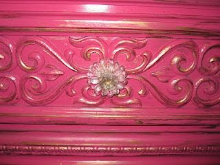 Classy Clutter: Sassy Pink and Gold Dresser