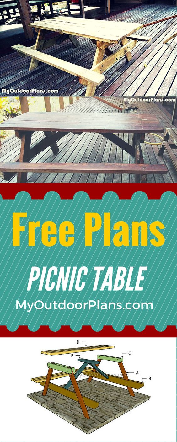 Learn how to build a picnic table easy to follow plans for Instructions on how to build a table