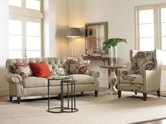 Sherrill Furniture   3249 Sofa Traditional | I Need TUFTED DECOR |  Pinterest | Traditional, Living Spaces And Decorating