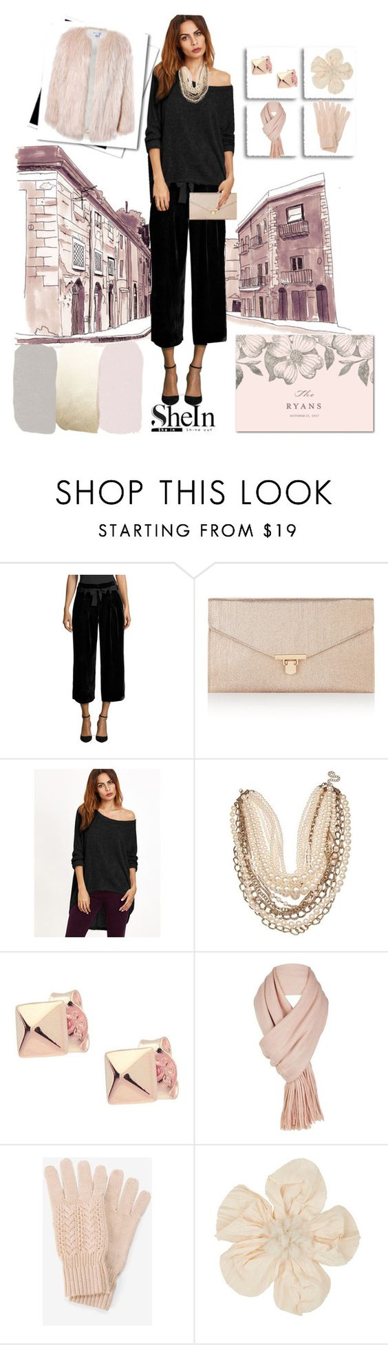 """""""Black-T-shirt"""" by manueladimauro ❤ liked on Polyvore featuring Hiche, Accessorize, Free People, White House Black Market, Lanvin and Sans Souci"""