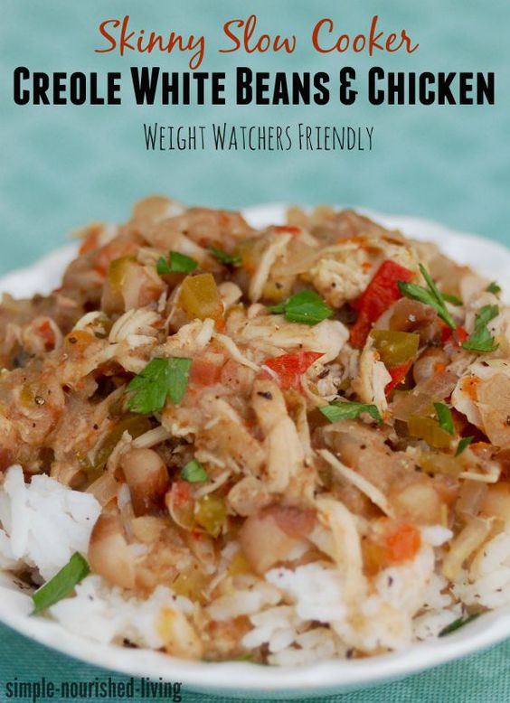 slow cooker creole white beans with chicken. Another winning slow ...