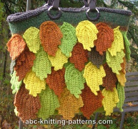 Fall Leaves Bag The Bag Itself Is Felted Leaves Are Added After