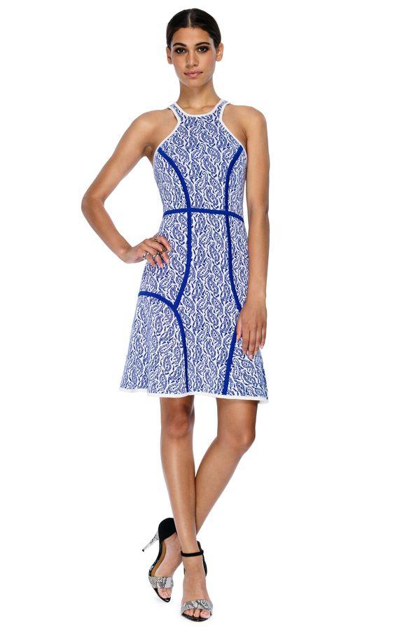 Yigal Azrouel Intarsia Paisley Knit Dress